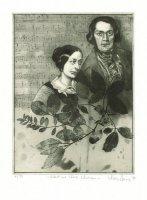Porträt Clara und Robert Schumann