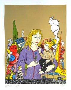 Madonna mit der blauen Blume (Gold)